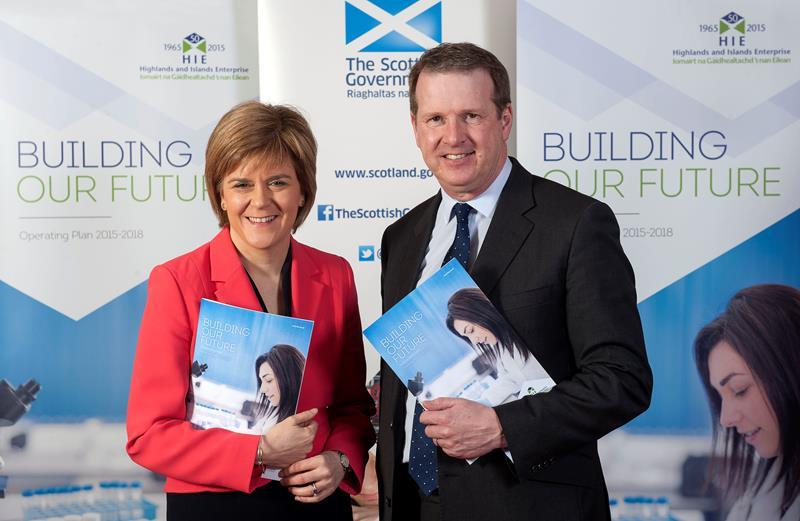 Alex Paterson with First Minister Nicola Sturgeon