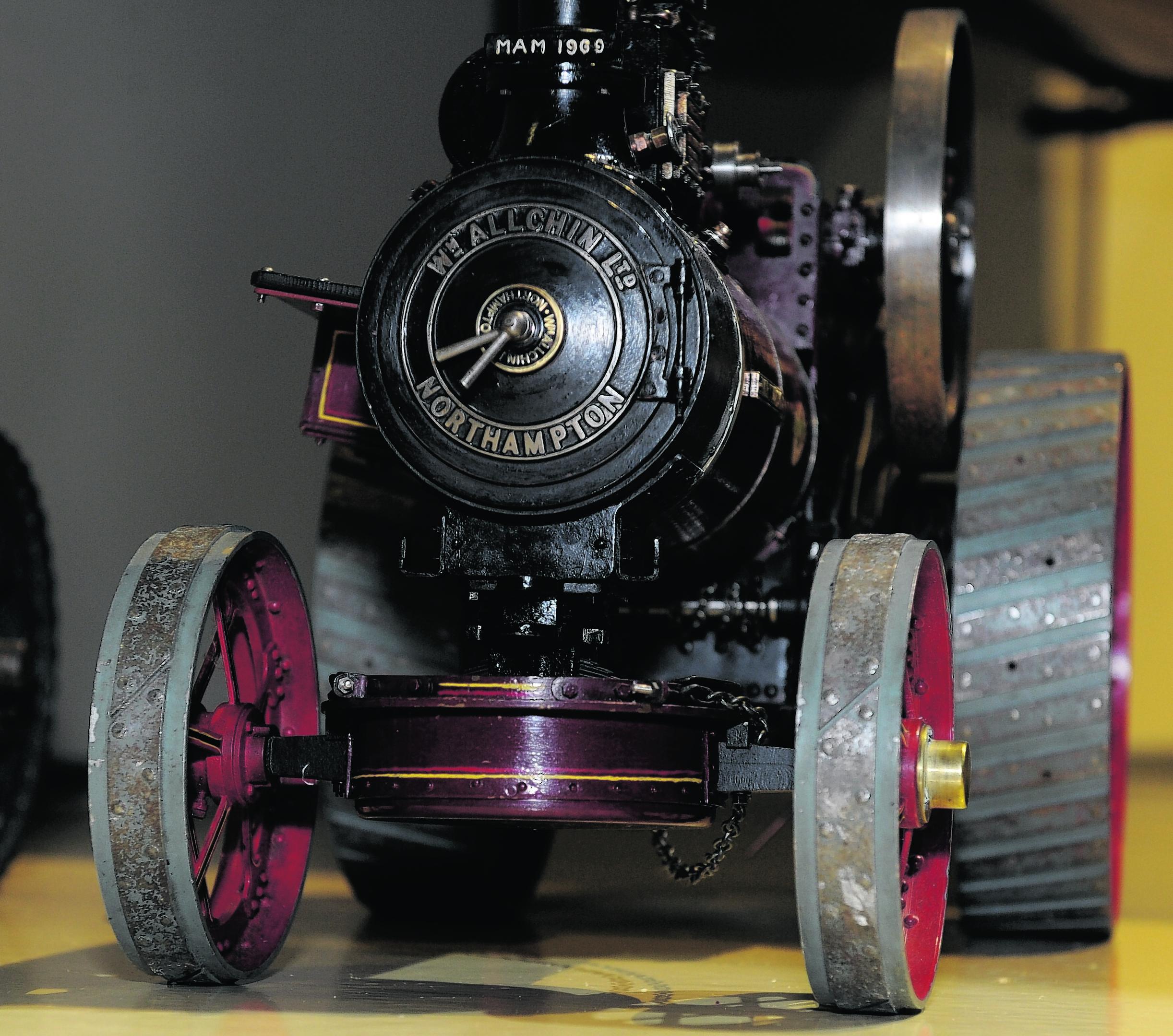 Miniture steam engine.