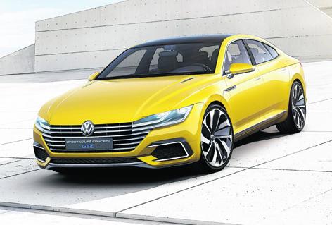 The Sport Coupé Concept GTE, VW's four-door, four-seat concept car
