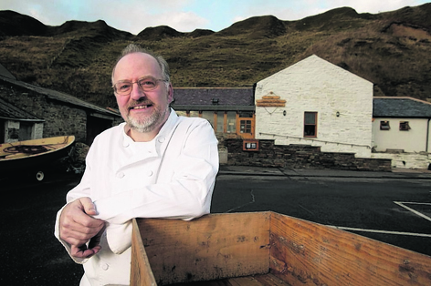 Jim Cowie, of the Captain's Galley restaurant in Scrabster, which has been crowned the Sustainable Restaurant of the Year