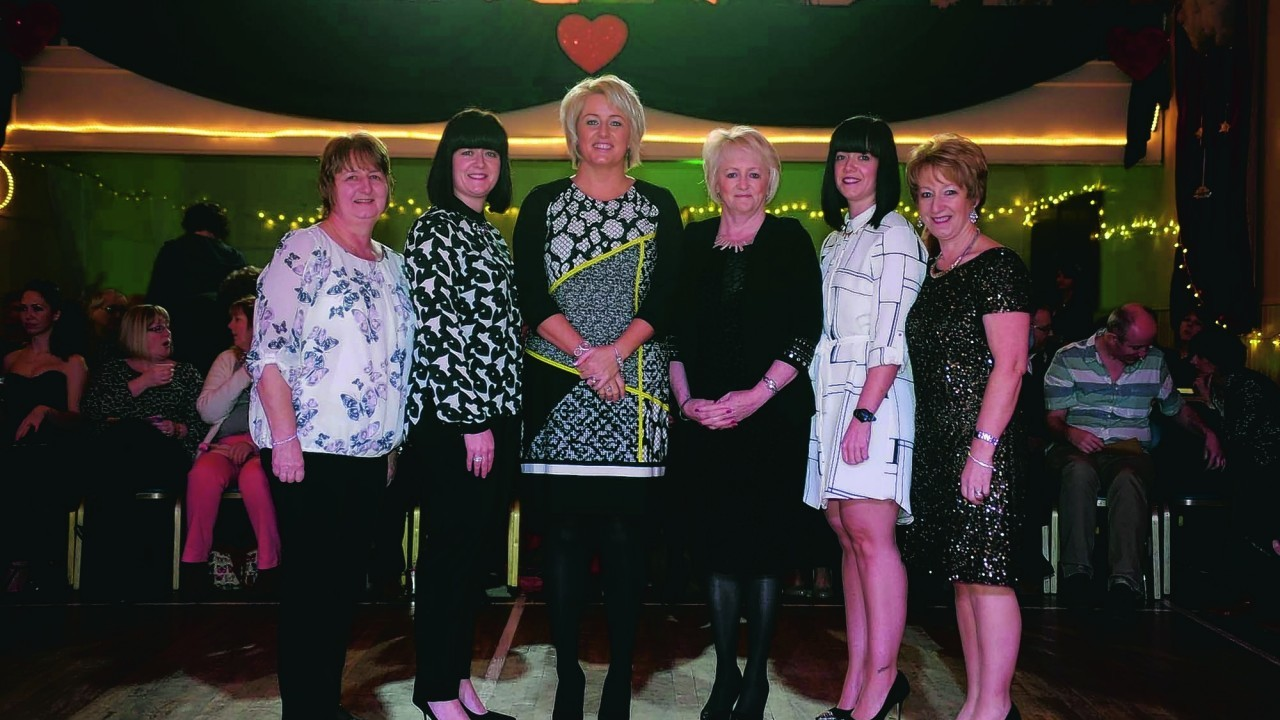 Moira Smith, Nicola Murray, Katie Watt Lynda Allan, Kim Fearns and Hazel Fearns