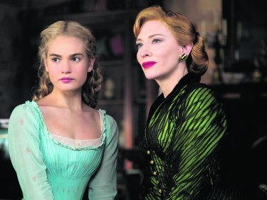 Lily James as Cinderella and Cate Blanchett as the Stepmother