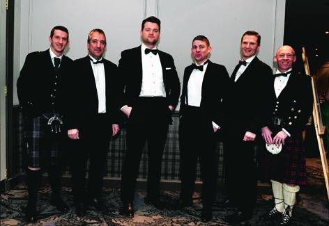 Cameron Bruce, Alan Law, Rob Rose, Ross Young, John Willis and Jeoff Watkin