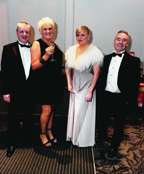 Paul and Mandi Dorward with Rebecca McNeish and Tony Bannon