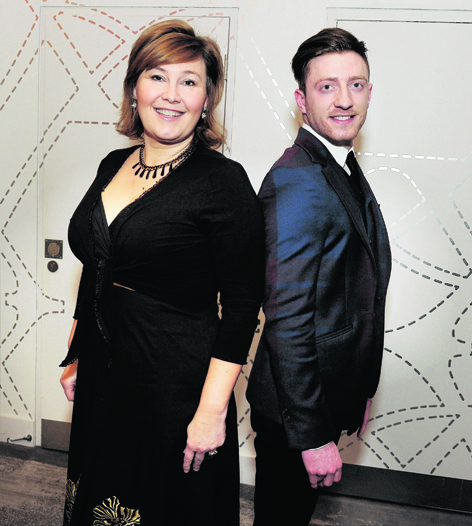 Jane McCarry, who plays Isa in Still Game, with fashion entrepreneur Christian MacLeod