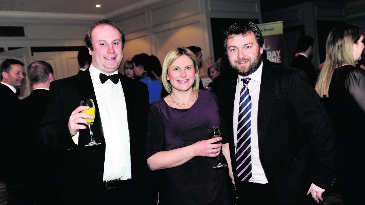 Gary McDonald with Anna and Ross Mitchell