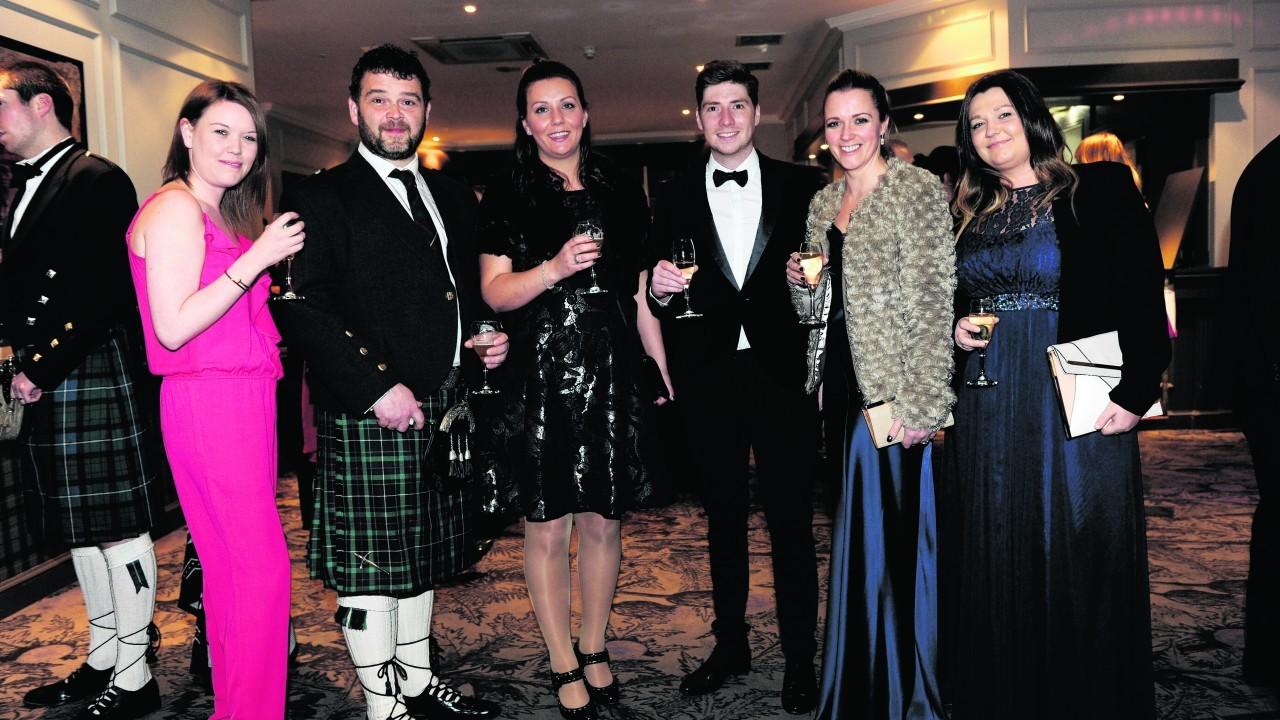 Claire MacIntyre with Scott and Malissa Fraser, Ali MacManus, Sarah Bremner and Alana McConnachie