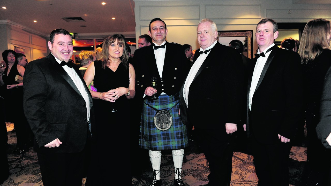 Jimmy and Irene Buchan with Ronnie Kelman and John and Robert Milne