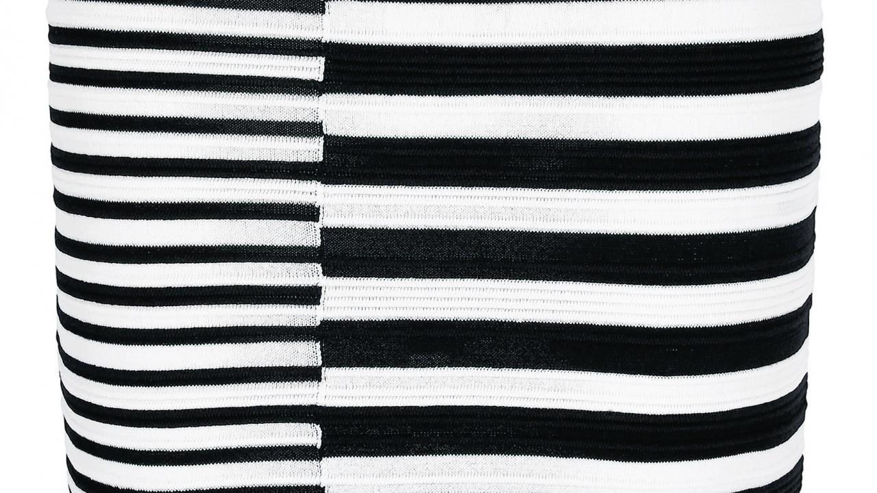 Black and white textured Skirt, £28, Next