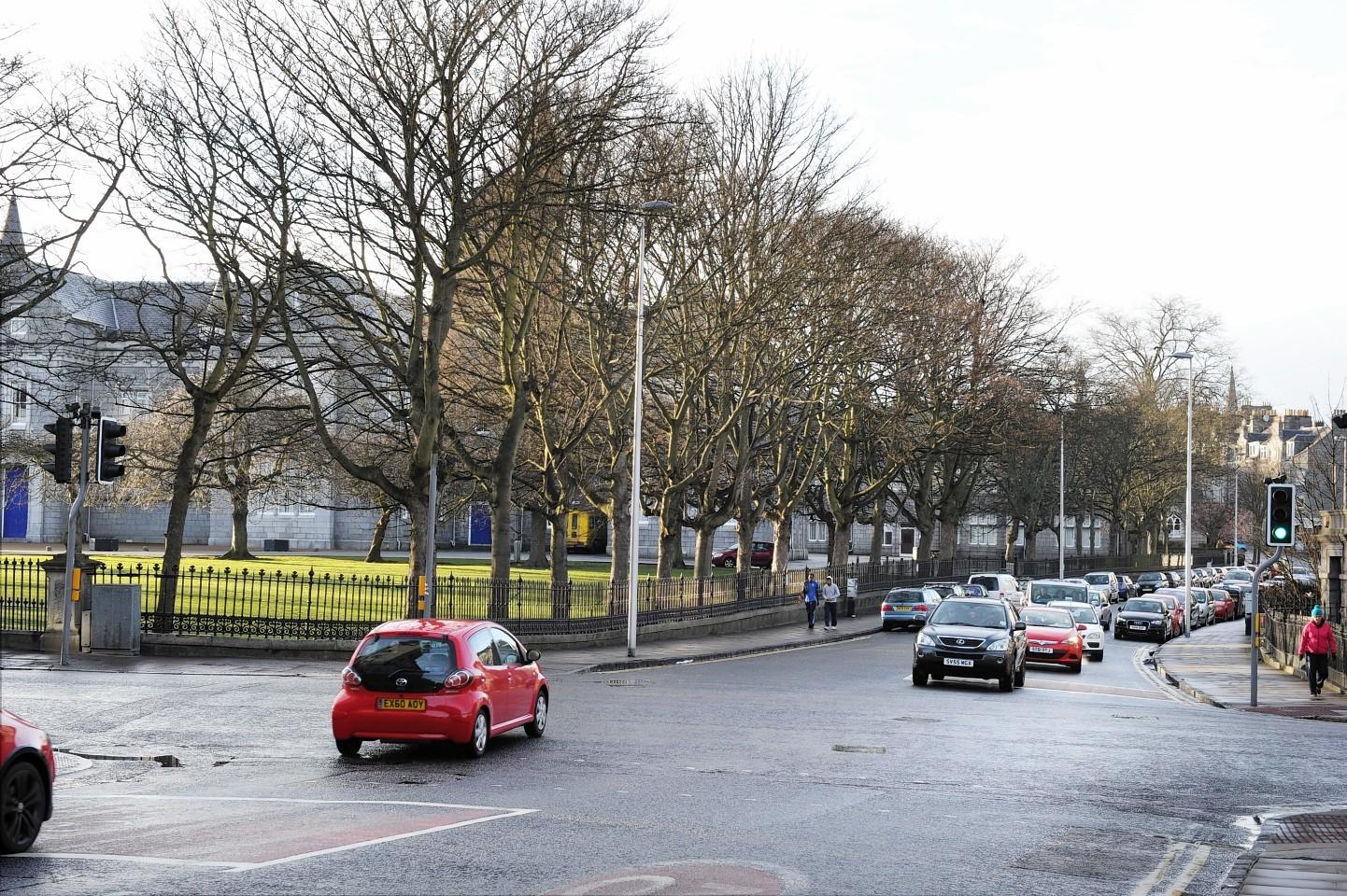 This picture of Aberdeen Grammar School was taken last week