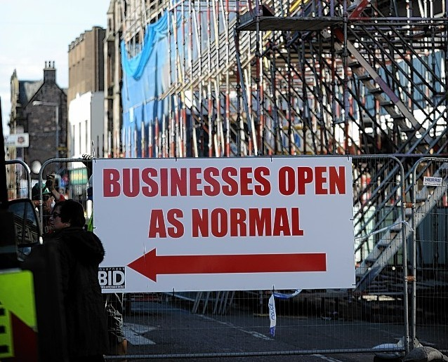 Academy Street re-opens in Inverness