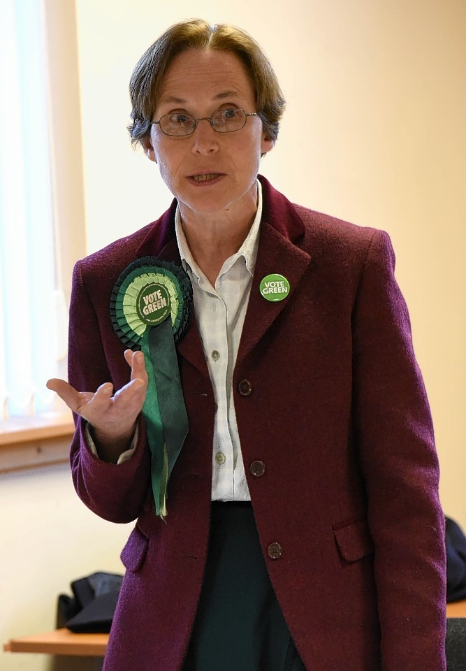 Anne Thomas. Scottish Green Party. Pic - Phil Downie