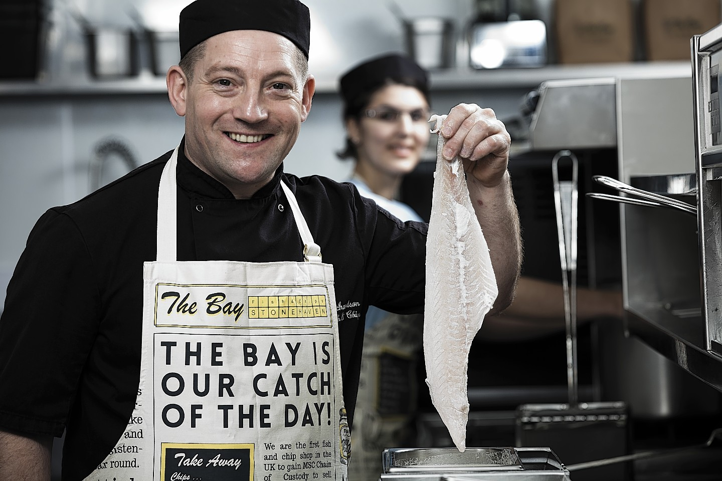 Calum Richardson, chef and owner of The Bay Fish and Chips