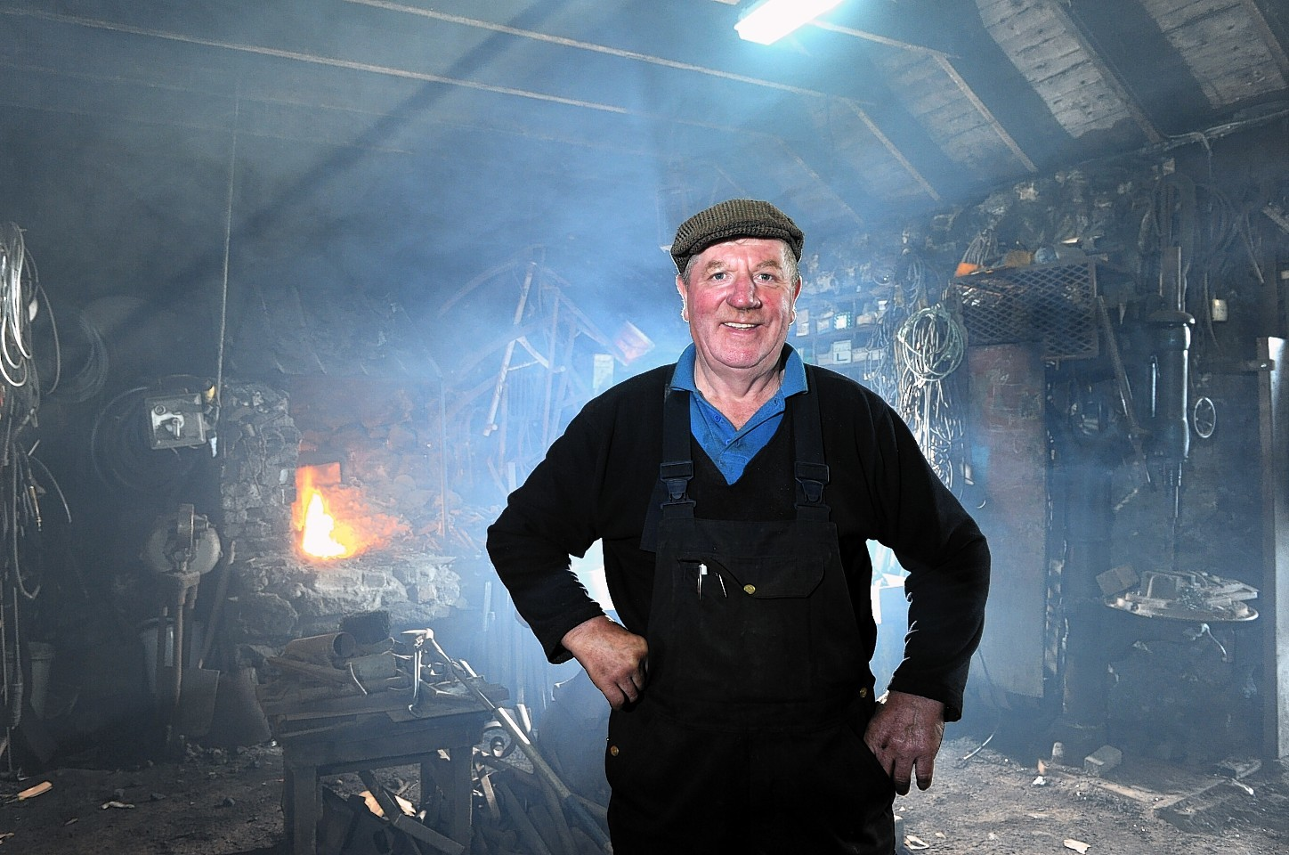 David Forsyth from St Combs who has been working as an agricultural engineer and blacksmith for 50 years.