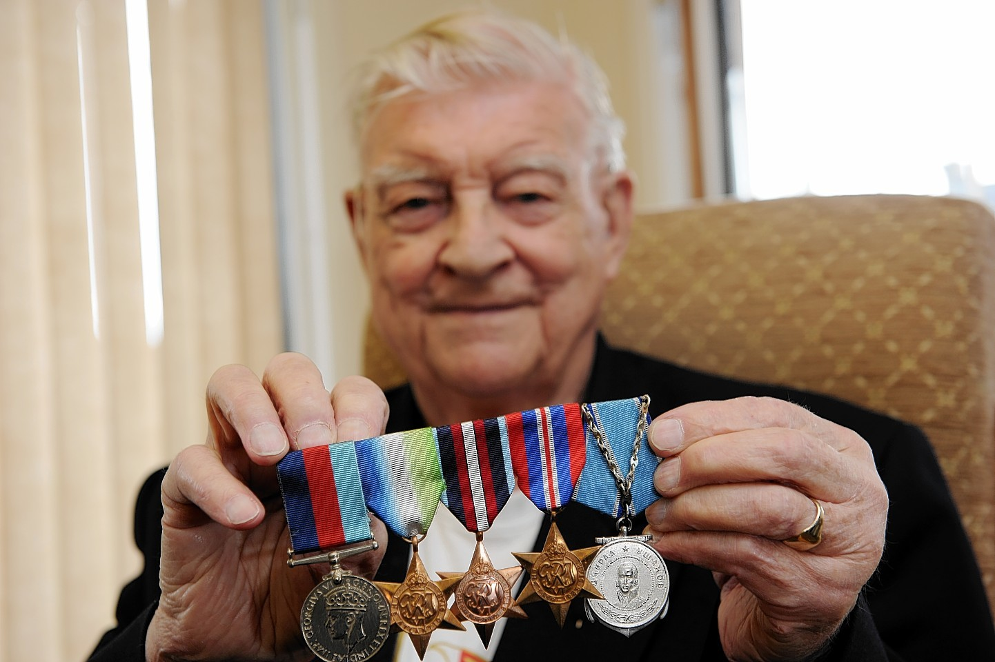 Arctic Convoy veteran, Bob Owen, has been invited by the Russian Government to St Petersburg for victory Day celebrations on May 8, picture by Kenny Elrick