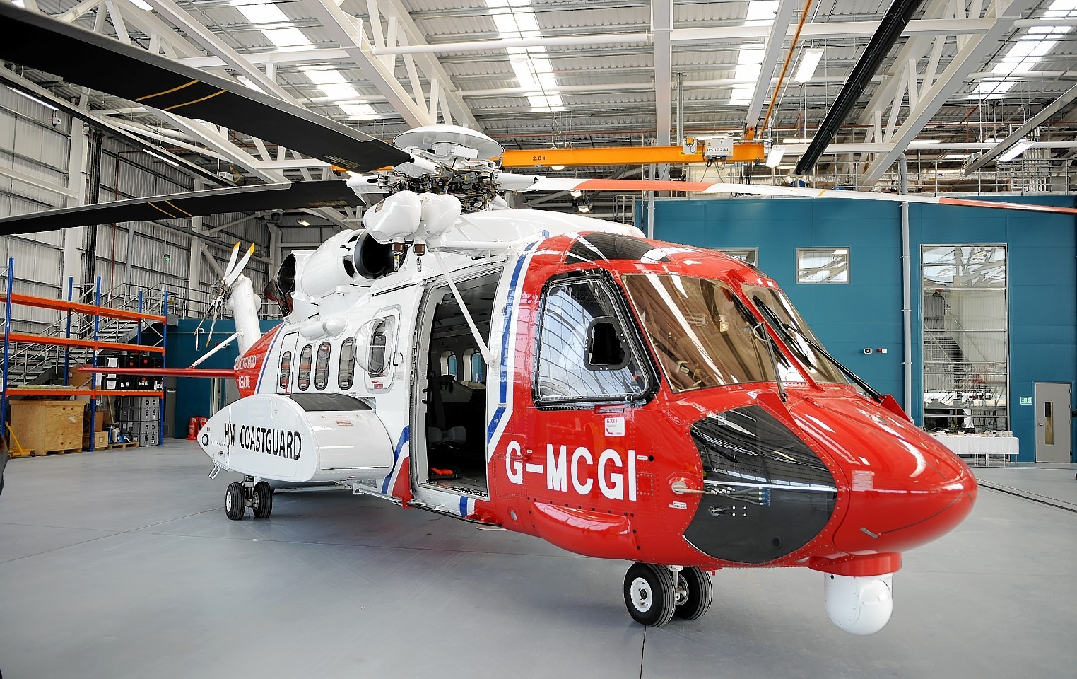Bristow Rescue 951 at its base in Inverness