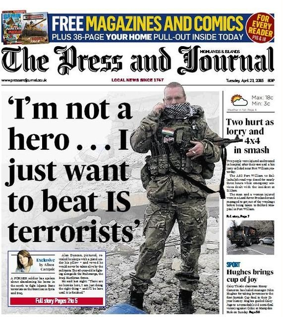 The Press and Journal newspaper front page