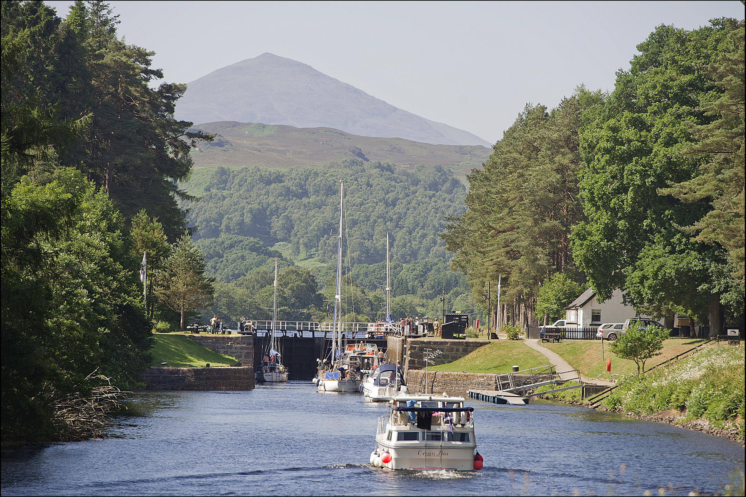 Kytra Lock on the Caledonian Canal.