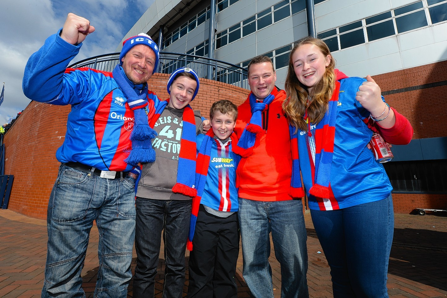 Caley Thistle fans outside Hampden