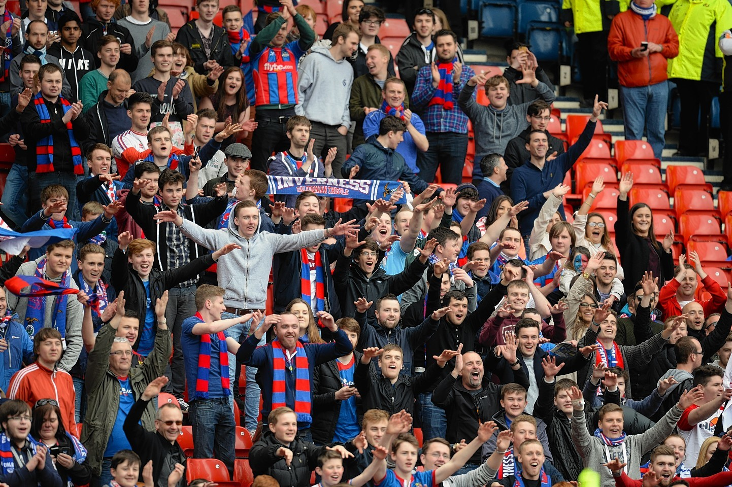 The Inverness supporters travelled in good numbers