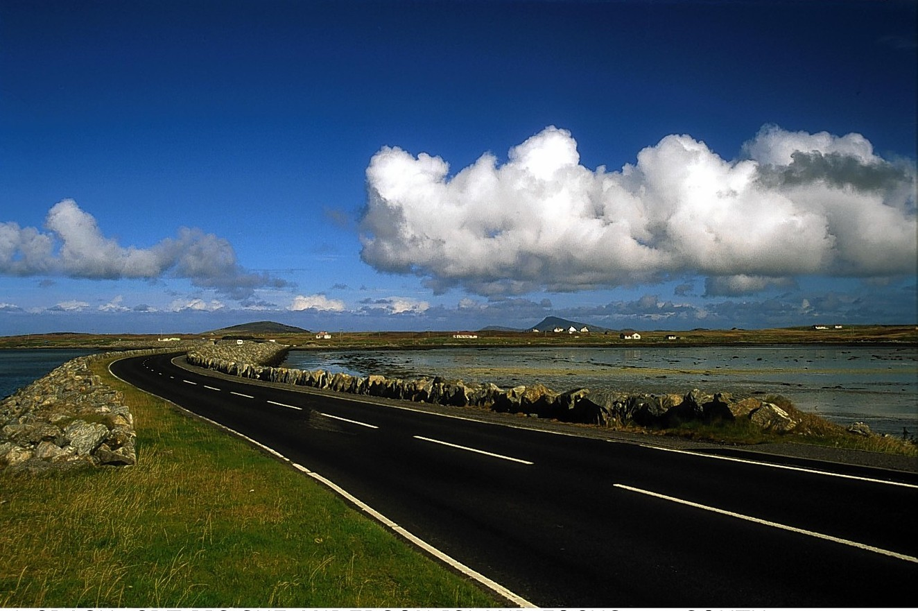 South Benbecula causeway from South Uist.