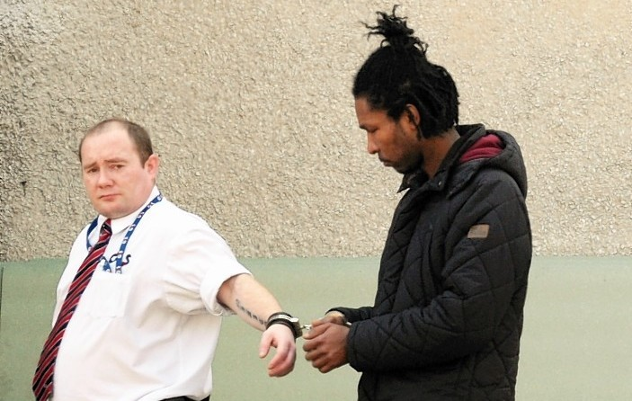 Cintron Sinclair outside court. Picture by Jim Irvine