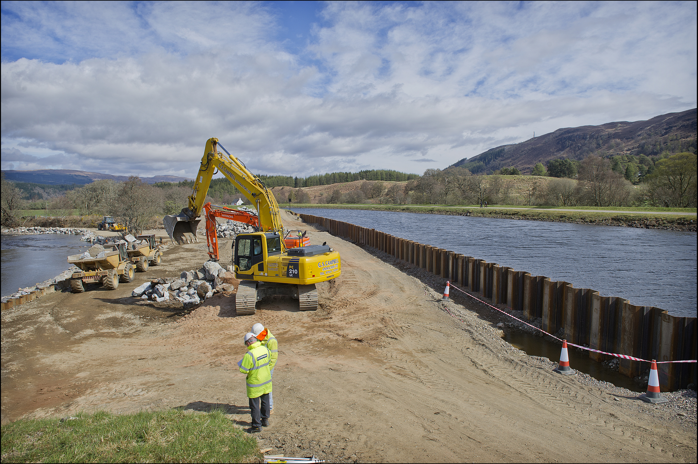 The repairs on the Caledonian Canal
