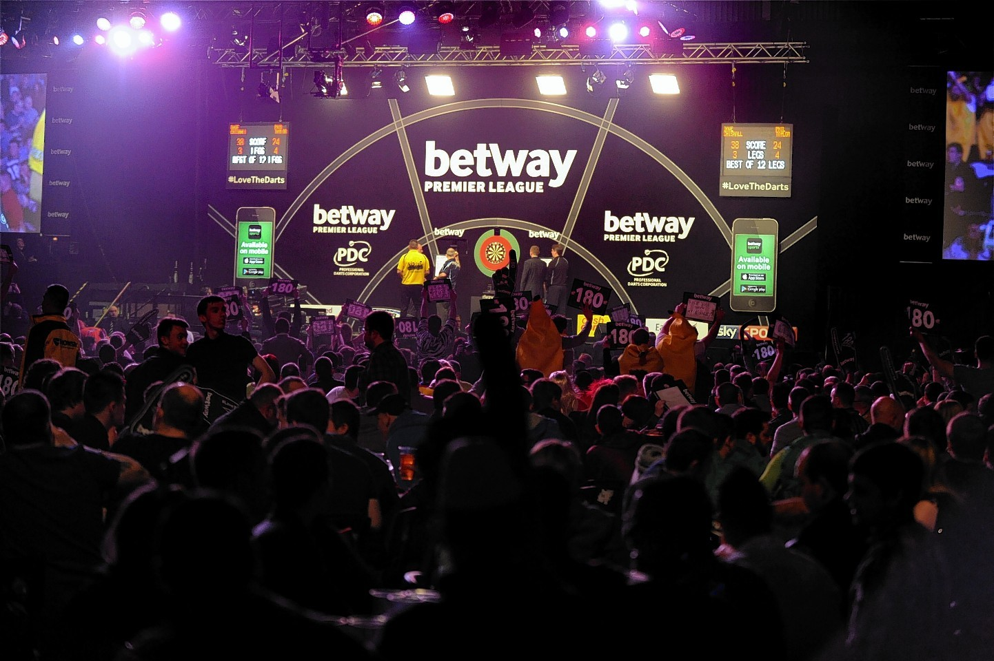 The Betway Premier League Darts at the AECC in Aberdeen