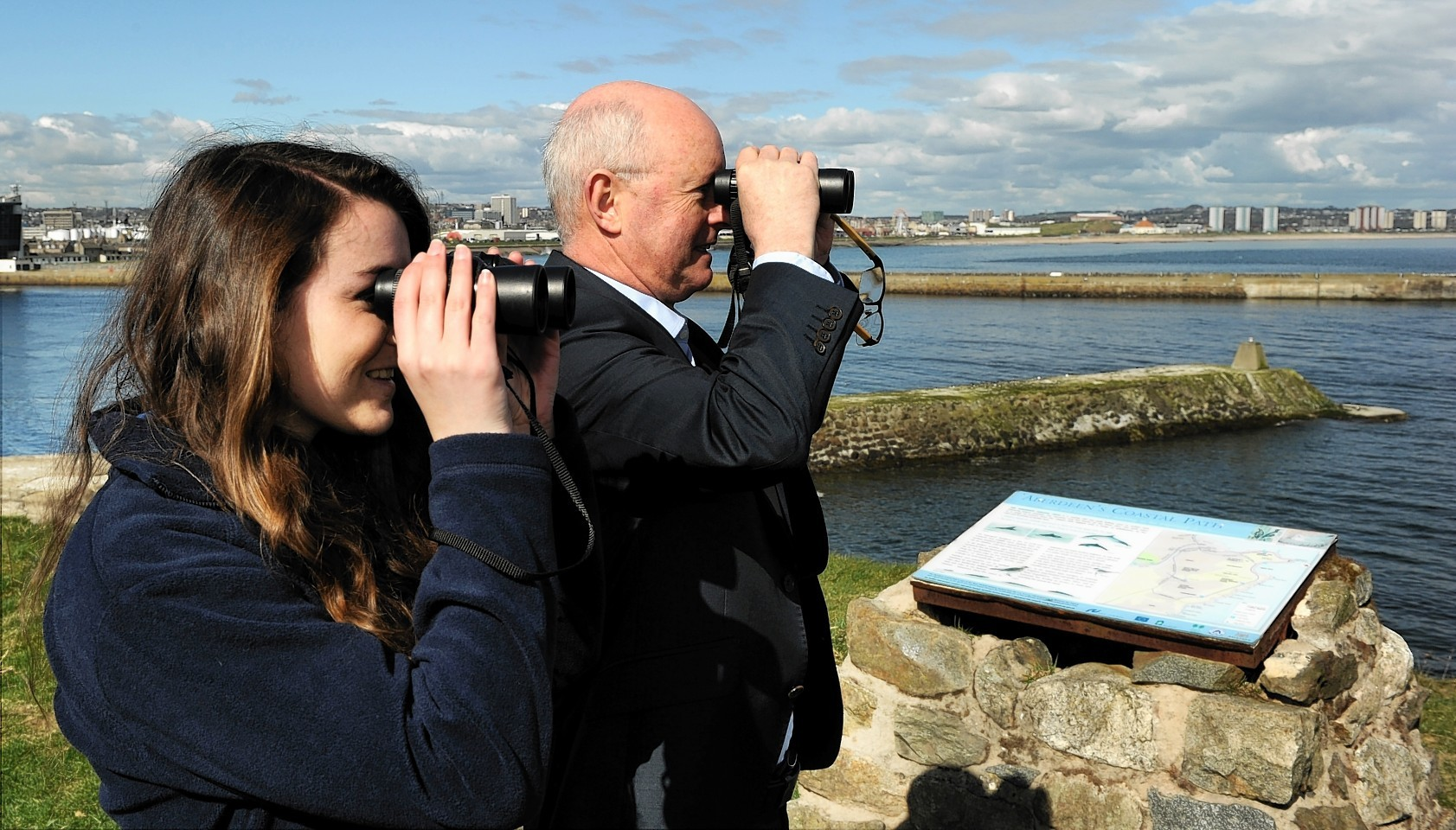 Dolphin Watch was launched at the Torry Battery in Aberdeen.  Picture by Colin Rennie