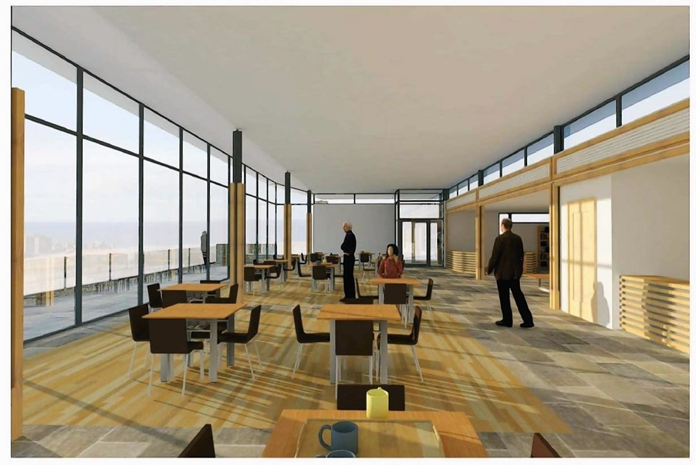 The proposed plans for Dunnottar Castle visitor's centre