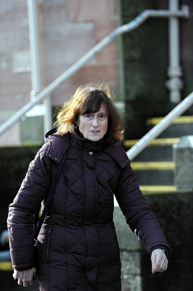 Rotraud Engleitner leaving Inverness Sheriff Court