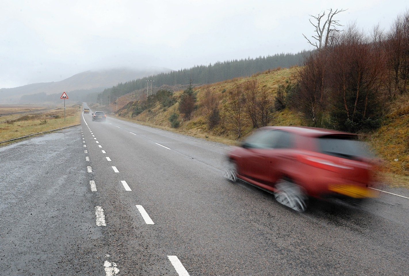 The A832 at Achanalt in Ross-shire where Esdert Prins was caught by police driving at 130mph in a 60mph zone.