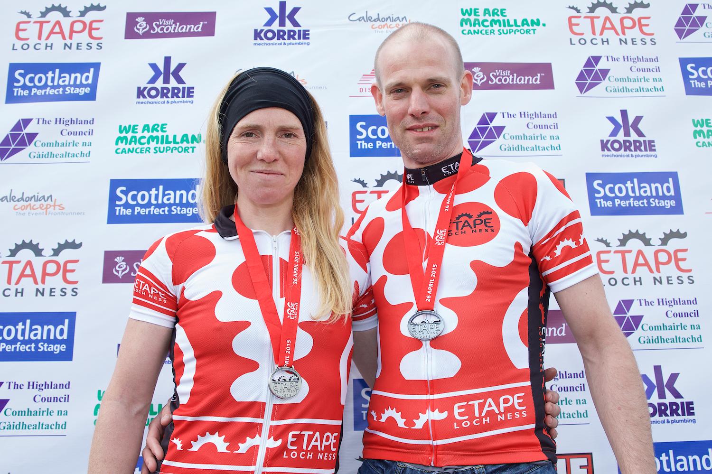 Etape winner Jamie Henderson and Lee Craigie