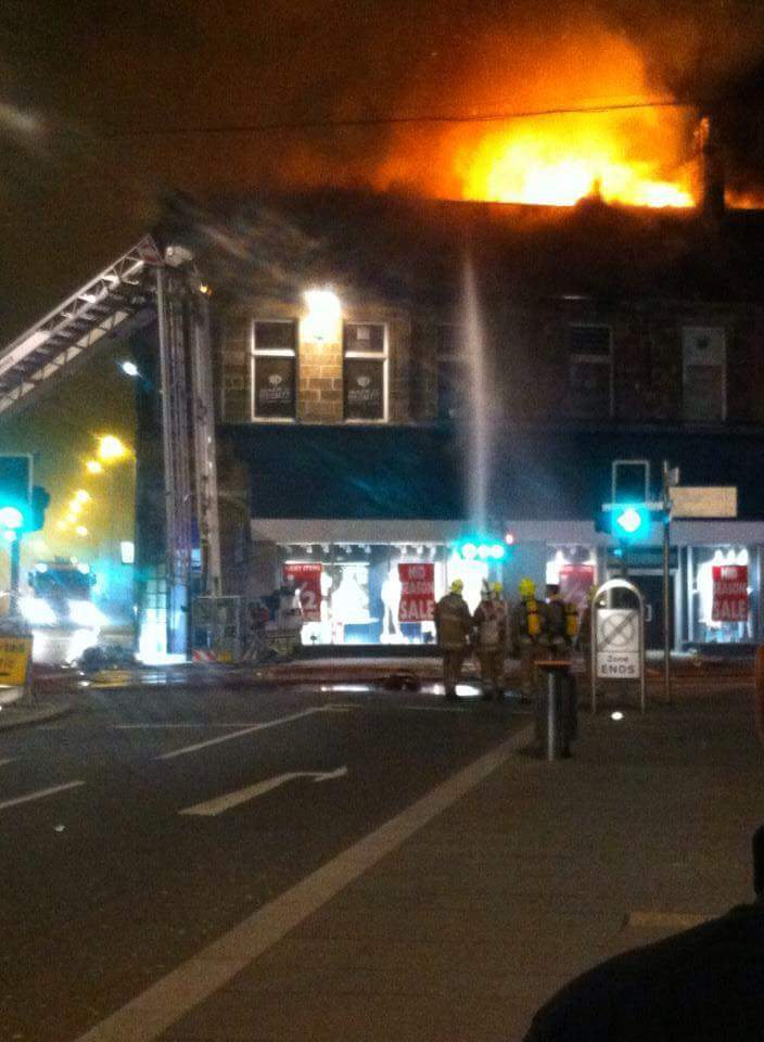 The fire in Inverness city centre