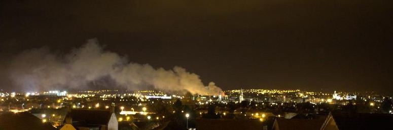 Fire from outside Inverness. Picture credit: @TheD1Mitchell