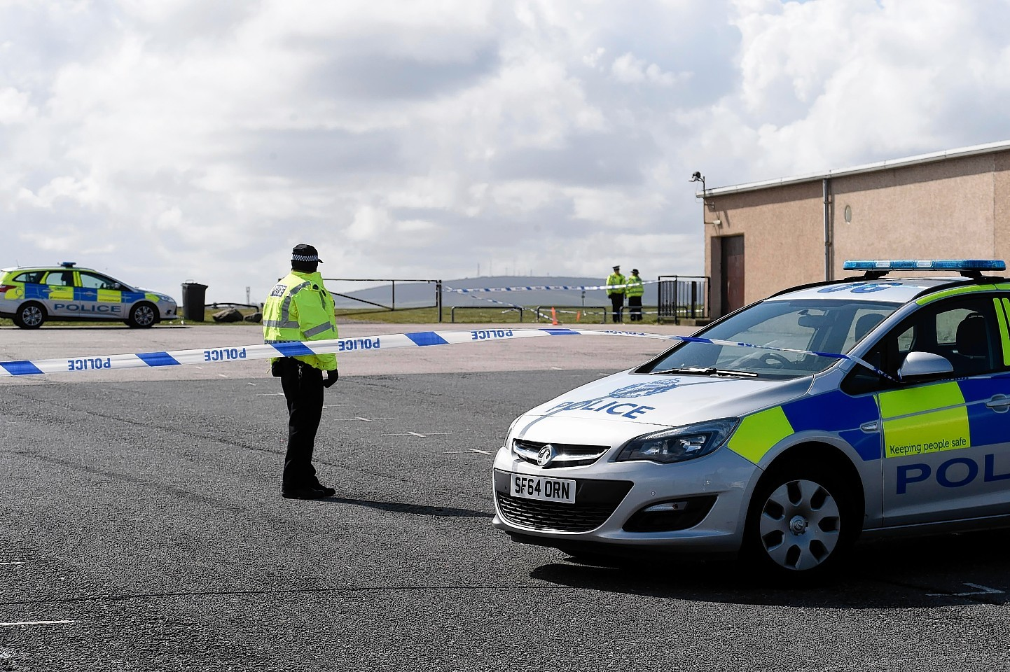 Police closed off the area round where Mr Anderson's body was found