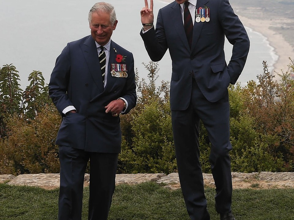 The Prince of Wales and Prince Harry visit The Nek, a narrow stretch of ridge in the Anzac battlefield on the Gallipoli Peninsula, as part of commemorations marking the 100th anniversary of the doomed Gallipoli campaign.
