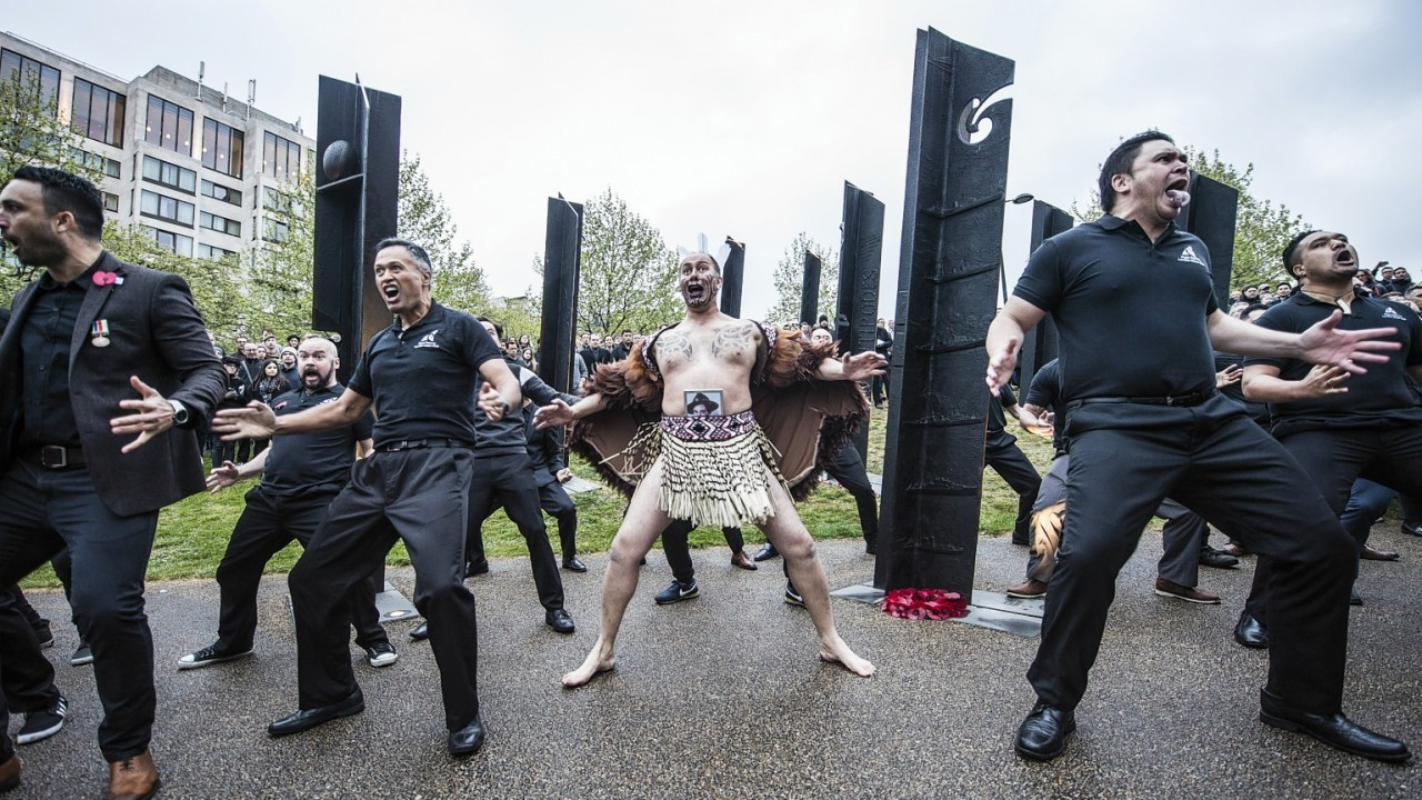 Maori dancers taking part in a Anzac ceremony two years ago