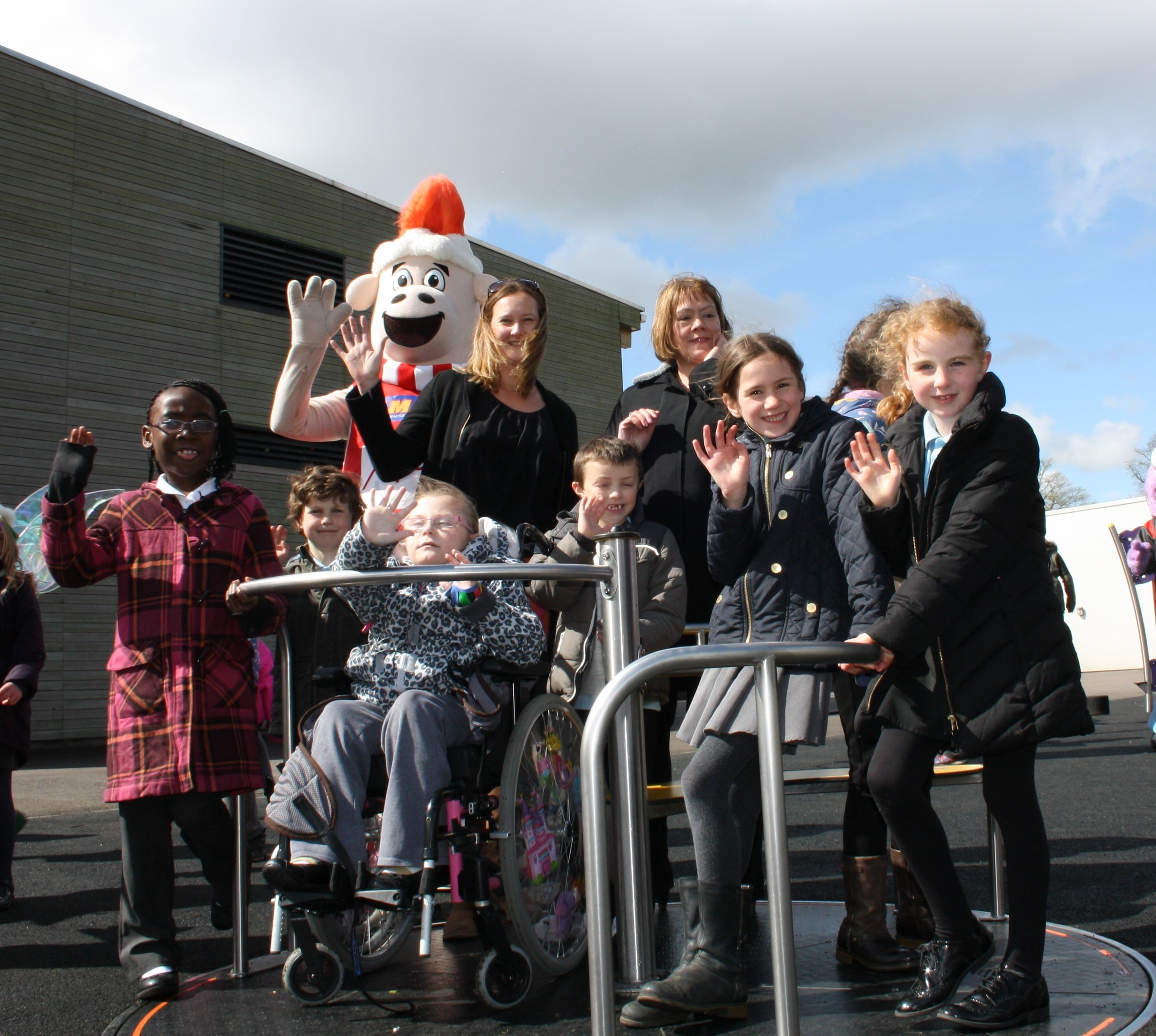 Both disabled and able-bodied children will be able to play on the new specialist equipment.