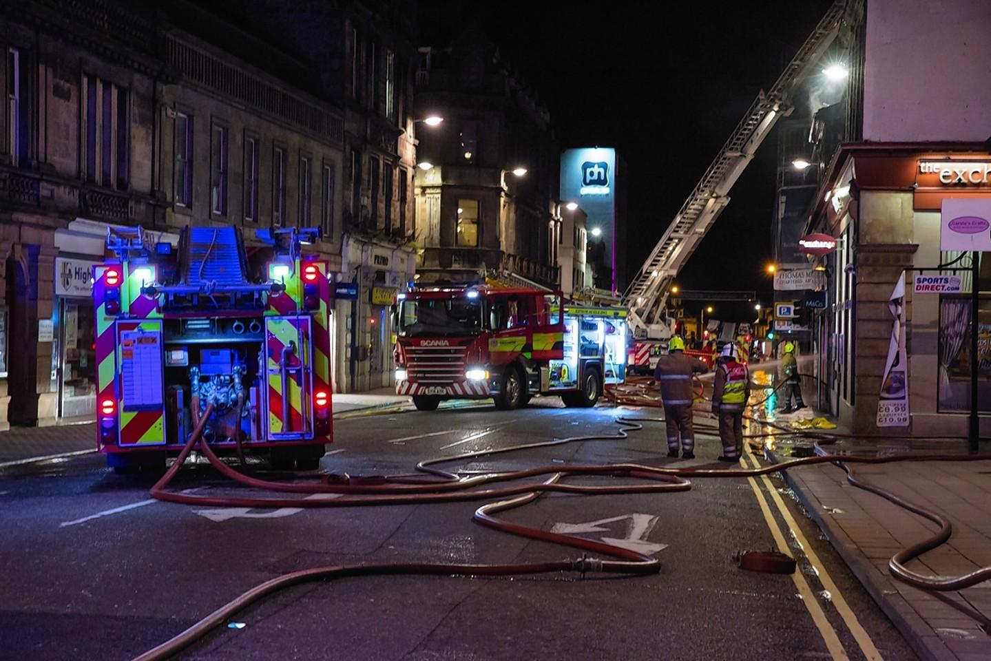 The fire on Academy Street last night