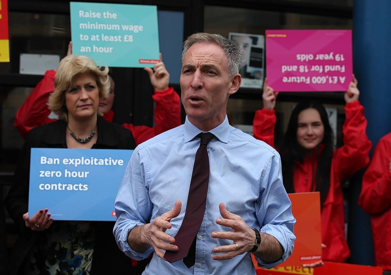 Jim Murphy was speaking in Aberdeen yesterday
