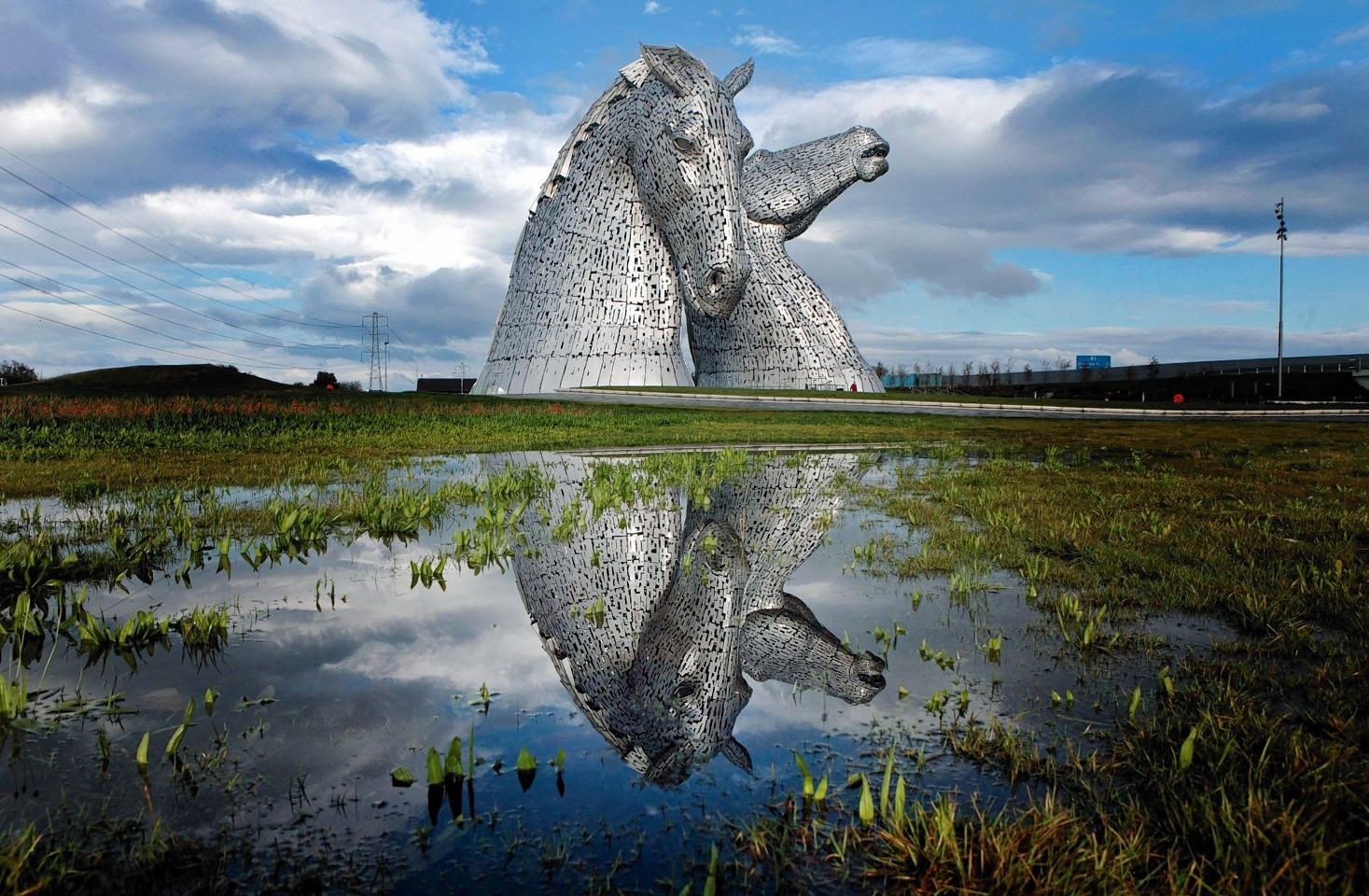 The Kelpies were unveiled to the public last year