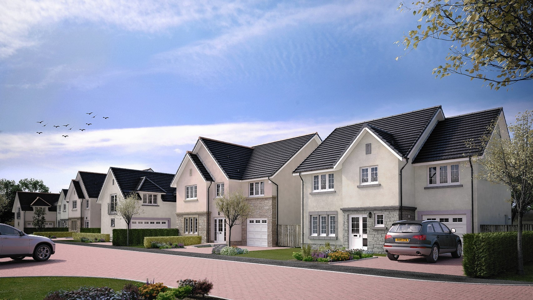 Artist impression of the planned Cala Homes near Kintore.