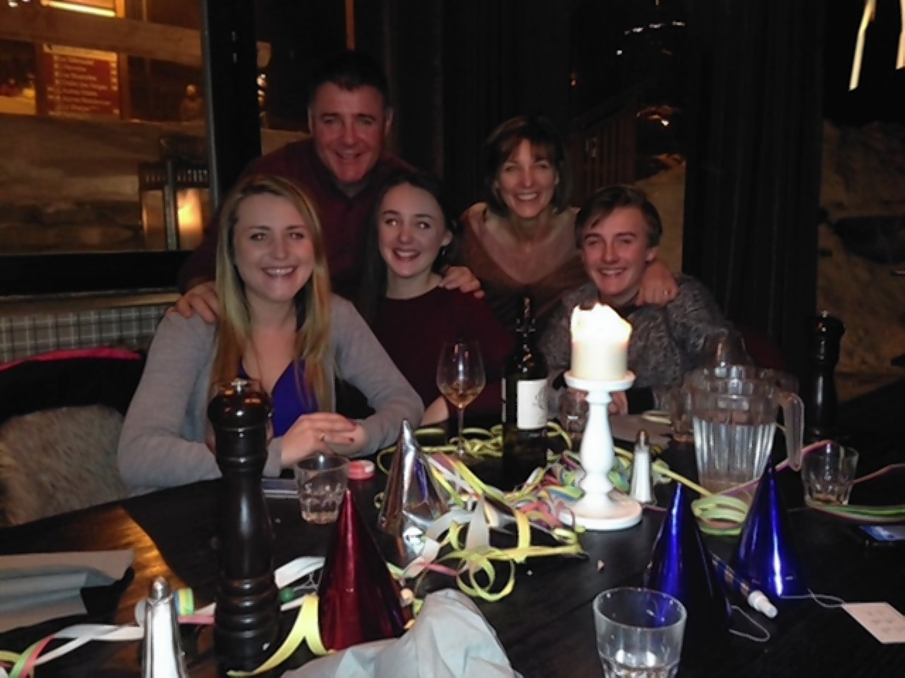 Lisa Stratford with Phil,  Sophie, Molly and Luke.