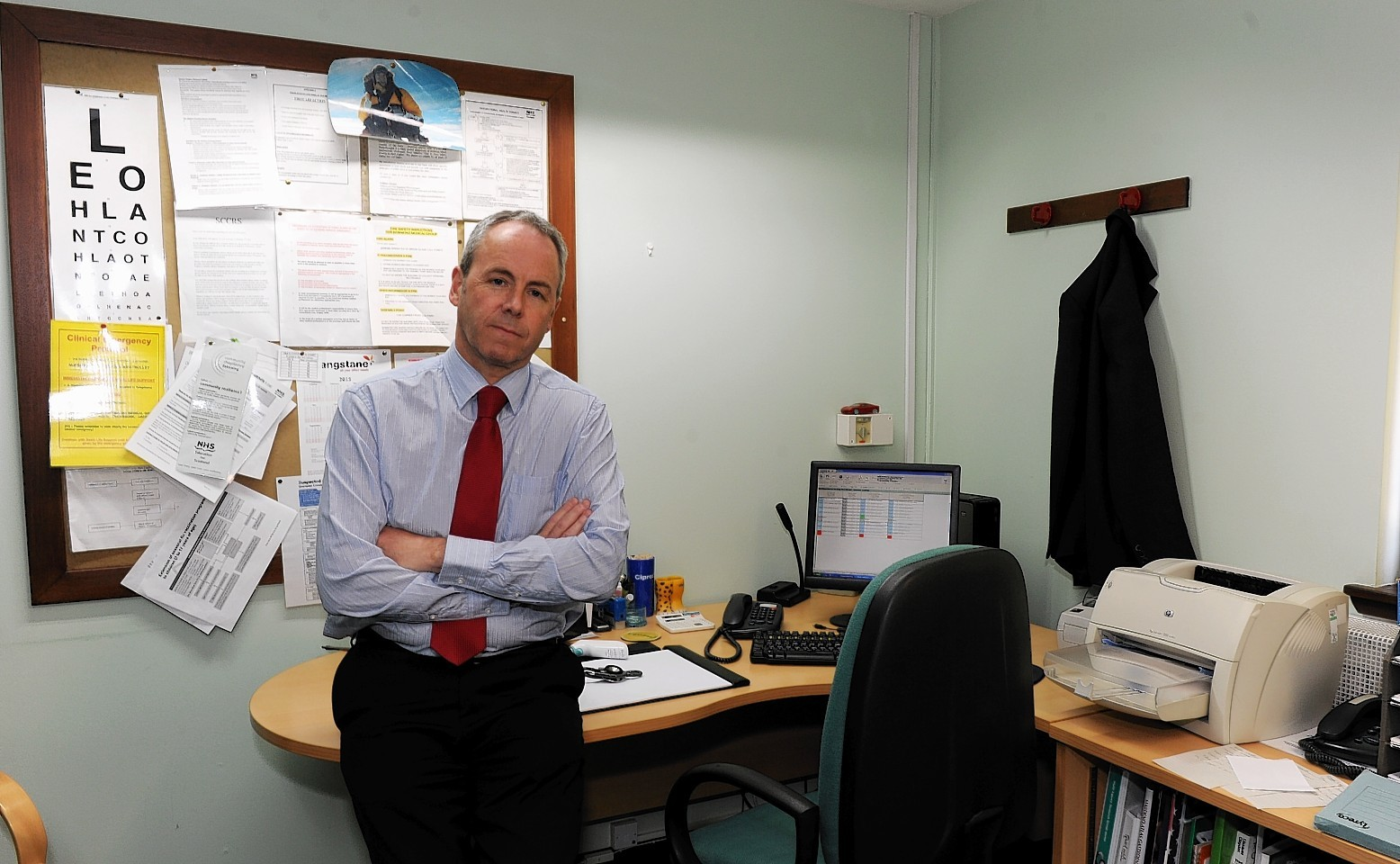 Dr Malcolm Valentine at the Bucksburn Surgery at Inverurie Road