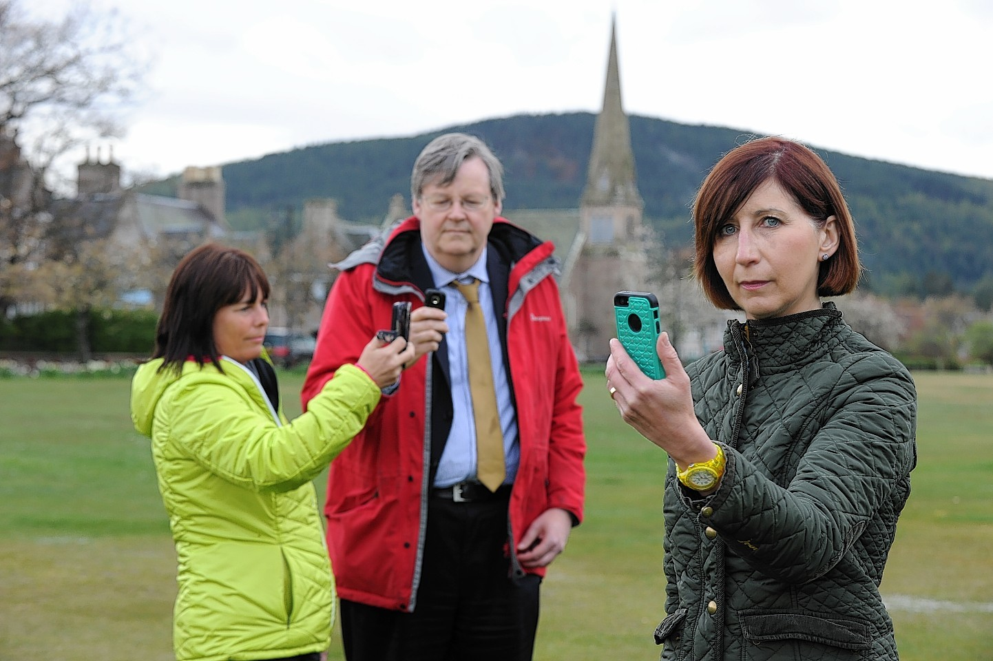Local residents Sally Duthie, Sir Robert Smith and Liz Marchant.  Picture by Kevin Emslie
