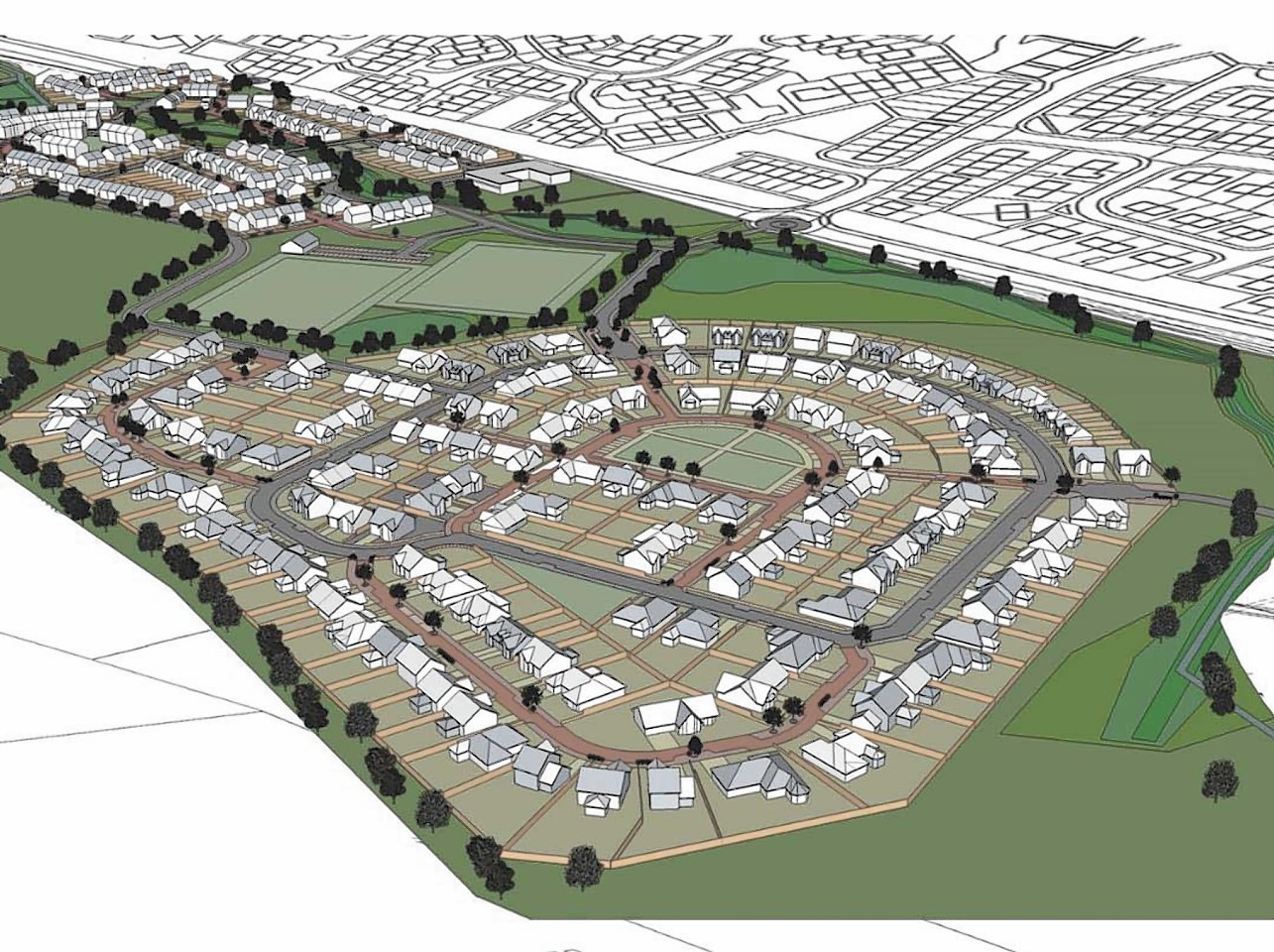 Masterplan for the proposed development of the site