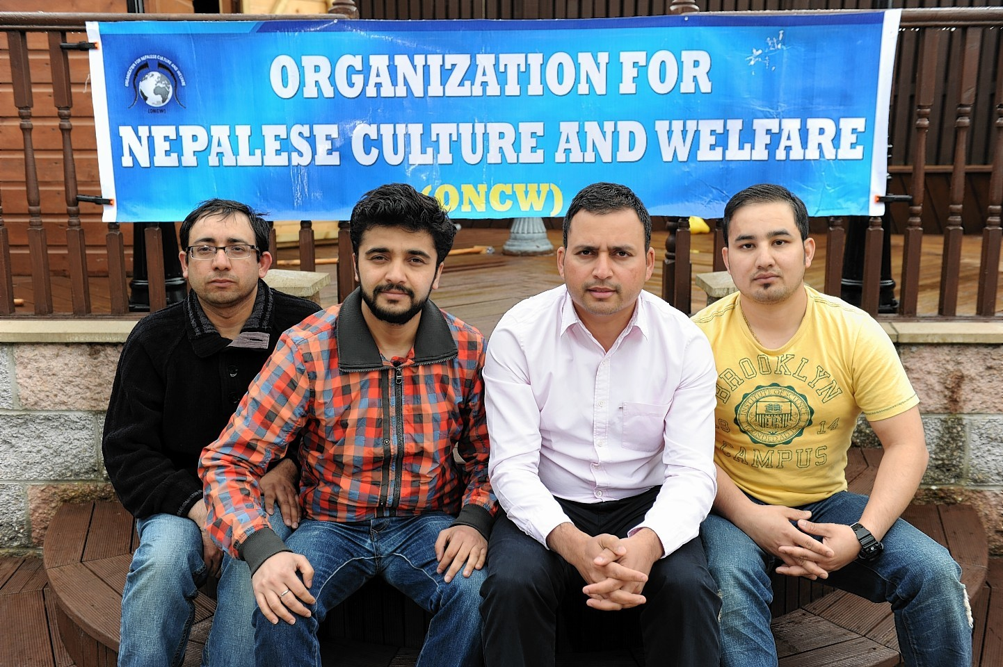 Picture of (L-R) Prakash Aryal, Santosh Gaihre, Dipesh Regmi and Nishchal Karki.  Picture by KENNY ELRICK