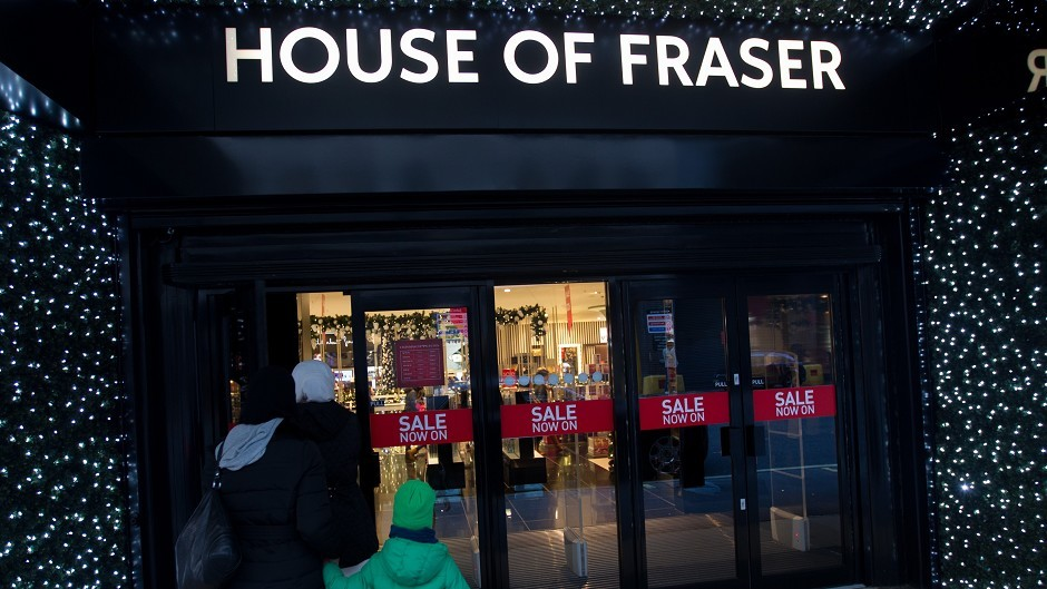 House of Fraser reported underlying earnings up 7% to £64.4 million in the year to January 31