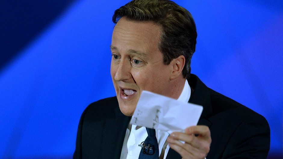 Prime Minister David Cameron gave a strong performance on the Question Time election special.